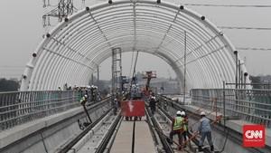 FOTO: Menengok Progres Pembangunan Proyek Stasiun LRT