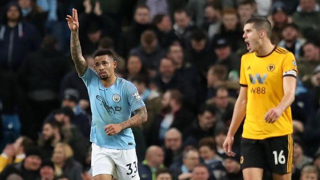 Bungkam Wolves, Man City Pangkas Jarak dengan Liverpool
