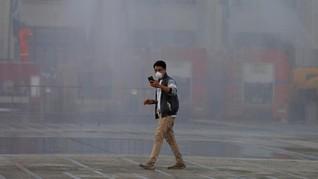 FOTO: Kabut Polusi Menggelayut di Langit Bangkok