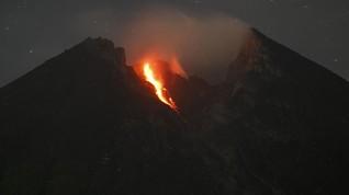 Gunung Merapi Luncurkan Awan Panas 1.500 Meter