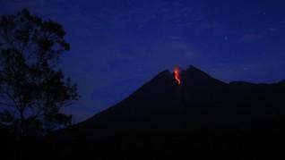 Gunung Merapi Semburkan Lava Sejauh 450 Meter