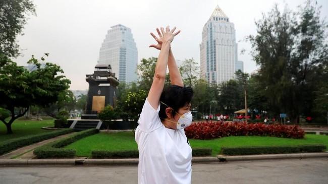 Kondisi udara buruk di Bangkok terjadi pada rentang Januari hingga Maret,dan Indeks Kualitas Udara mencapai 130. (REUTERS/Soe Zeya Tun)