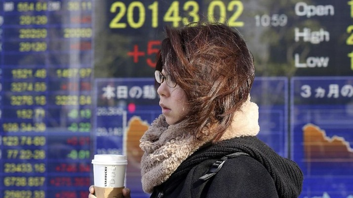 Ribut-Ribut AS-China Bikin Grogi, Bursa Saham Asia Terkoreksi