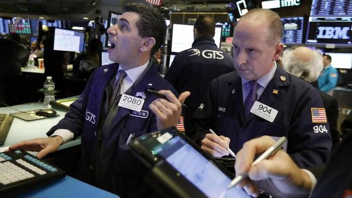 Bursa AS Berpeluang Cetak Koreksi Paripurna Sepekan Ini
