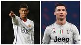 Cristiano Ronaldo justru makin terlihat atletis dan memiliki tubuh yang lebih berisi dibandingkan ketika dirinya masih berusia lebih muda. (AFP PHOTO / Glyn Kirk / Tiziana FABI)