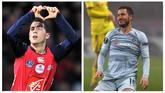 Perbedaan besar Eden Hazarddalam 10 tahun terakhir terlihat pada kumis, jenggot, dan berewok. Dari kualitas permainan, Hazard di Chelsea jelas jauh lebih hebat dibandingkan saat ia masih di Lille. (AFP PHOTO / PHILIPPE HUGUEN / Kirill KUDRYAVTSEV)
