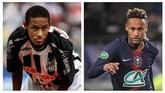 Neymar belum melakukan banyak variasi gaya rambut semasa masih di Santo. Sepuluh tahun berselang, sudah banyak gaya rambut yang dicoba Neymar. (AFP PHOTO / Mauricio Lima / LOIC VENANCE)