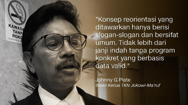 Johnny G Plate, Wakil Ketua TKN Jokowi-Ma'ruf.