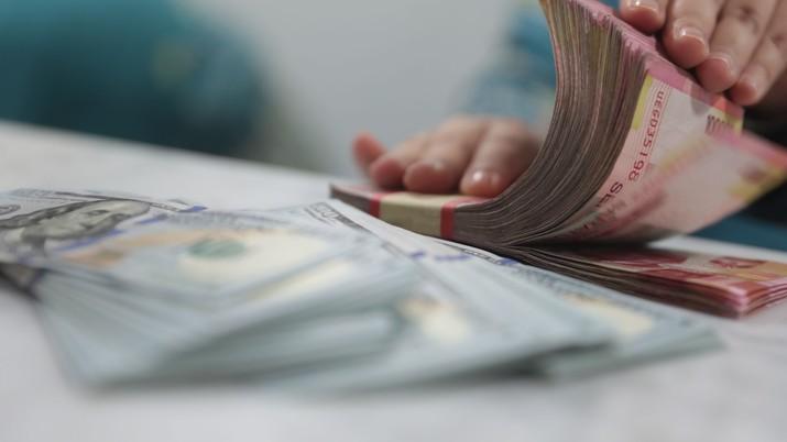 Rupiah menguat 0,05% melawan dolar AS pada pembukaan perdagangan di pasar spot hari ini, Rabu (23/10/2019).
