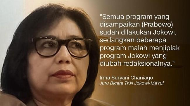 Irma Suryani Chaniago, Juru Bicara TKN Jokowi-Ma'ruf.
