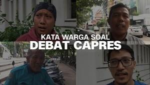 VIDEO: Kata Warga soal Debat Capres 2019