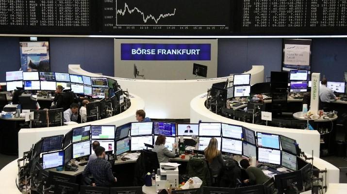 Risiko Zona Euro Meningkat, Bursa Eropa Ditutup Melemah