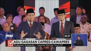 VIDEO: Pesan Terakhir Prabowo dalam Debat Capres Perdana