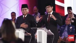 Prabowo Lupa Sandiaga Sudah Bukan Anggota Gerindra Saat Debat