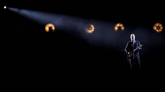 Chris Cornell ditemukan meninggal bunuh diri di kamar hotelnya di Detroit usai tampil bersama Soundgarden, 18 Mei 2017 silam. Semasa hidup ia disebut berjibaku dengan depresi. (REUTERS/Mario Anzuoni)