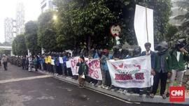 Mahasiswa Gelar Demo di Lokasi Debat Perdana Capres 2019