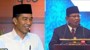 VIDEO: Pemanasan Jokowi-Prabowo Jelang Debat Capres Perdana