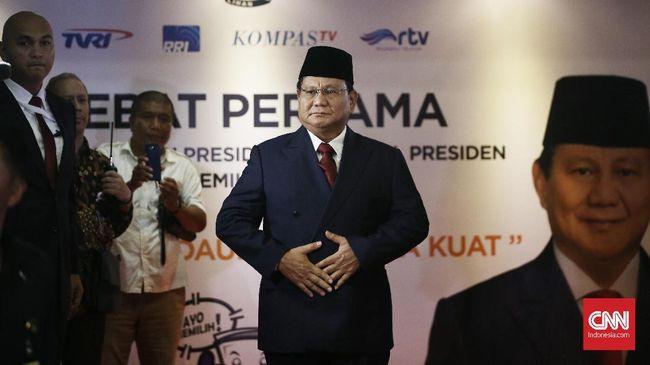 Prabowo Soroti Kedaulatan Pangan di Debat Capres Lawan Jokowi
