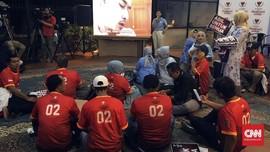 Jelang Debat Capres, Relawan Prabowo-Sandi Padati Markas BPN