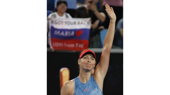 Di babak kedua Maria Sharapova akan menghadapi unggulan ketiga asal Denmark Caroline Wozniacki. (REUTERS/Adnan Abidi)