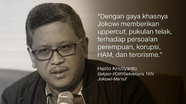 Sekjen PDIP/Sekretaris TKN Jokowi-Ma'ruf, Hasto Kristiyanto.