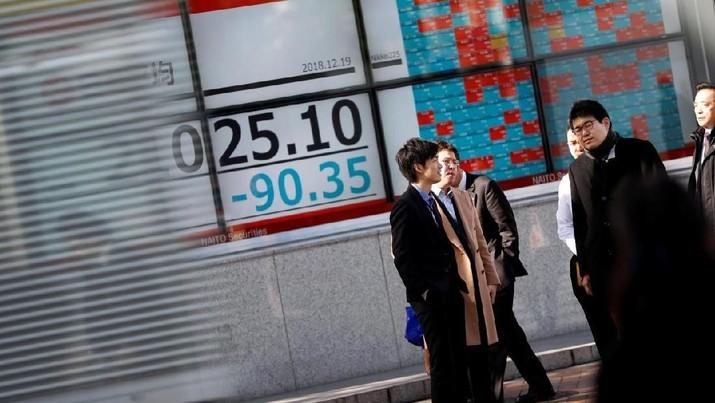 Bursa Jepang dibuka melemah, Kamis (23/5/2019), menyusul koreksi yang dibukukan Wall Street dini hari tadi.
