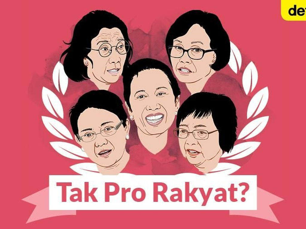 Siapa Menteri Perempuan di Kabinet Jokowi Tak Pro Rakyat?