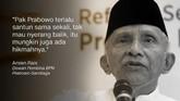 Dewan Pembina BPN Prabowo-Sandiaga, Amien Rais.