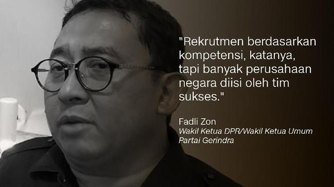 Fadli Zon, Wakil Ketua DPR/Wakil Ketua Umum Partai Gerindra.