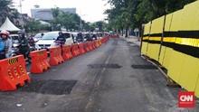 Jalan Raya Gubeng Surabaya Kembali Alami Retakan
