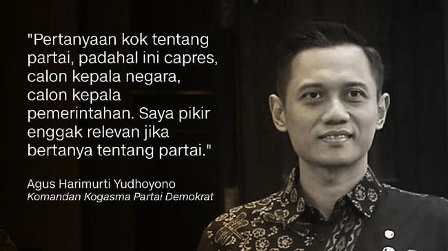Komandan Kogasma Partai Demokrat, Agus Harimurti Yudhoyono.
