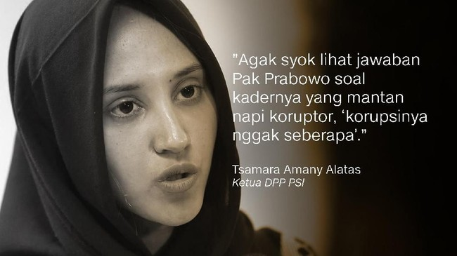 Ketua DPP PSI, Tsamara Amany Alatas.