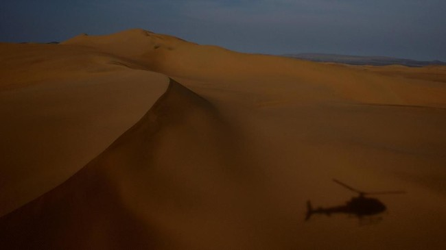 Panorama kawasan Pisco to San Juan de Marcona, Peru, yang menjadi lokasi Reli Dakar 2019.