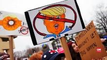 VIDEO: Turun ke Jalan, Perempuan AS Beri Tekanan ke Trump