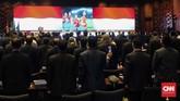 Dalam Kongres Tahunan PSSI 2019 terjadi keputusan yang mengejutkan beberapa pihak, yaitu mundurnya Edy Rahmayadi dari jabatan Ketua Umum PSSIpada Minggu (20/1). (CNN Indonesia/Arby Rahmat Putratama)