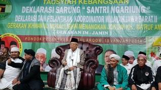 Santri Ngariung Ponpes Jabar Deklarasi Dukungan Jokowi-Ma'ruf