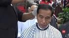 VIDEO: Presiden Jokowi dan Pejabat Ikut Potong Rambut Massal