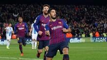 FOTO: Barcelona Tak Kesulitan Kalahkan Leganes