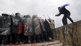FOTO: Demo Soal Makedonia di Yunani Berujung Ricuh
