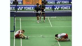Nova Widianto/Liliyana Natsir adalah ganda campuran nomor satu dunia, namun mereka tak mampu memenangkan gelar All England dan emas Olimpiade. (AFP PHOTO/ Indranil MUKHERJEE)
