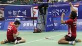 Tontowi Ahmad/Liliyana Natsir berhasil meraih gelar juara dunia 2013 di Guangzhou. Mereka sempat tertinggal 18-20 di gim penentuan sebelum bangkit dan memenangkan pertandingan. (Dok. Humas PBSI)