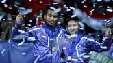 Tontowi Ahmad/Liliyana Natsir mencoba bangkit di 2013. Mereka sukses mempertahankan gelar All England. (AFP PHOTO/BEN STANSALL)