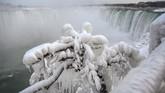 Saat ini suhu di niagara bisa mencapai minus 25 derajat celcius. (REUTERS/Moe Doiron)