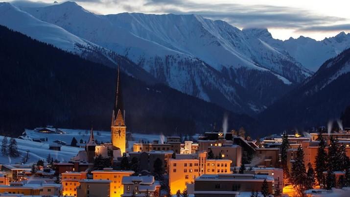 Mengintip Tokoh-tokoh Kelas Berat Dunia di Resor Mewah Davos