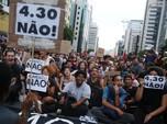 Tarif Bus Naik, Warga Brasil Demo Padati Sao Paulo