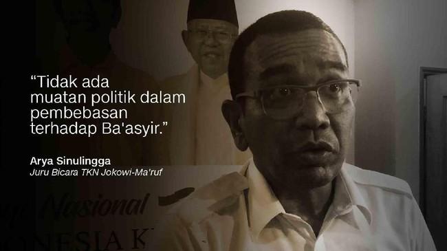 Arya Sinulingga, Juru Bicara TKN Jokowi-Ma'ruf.