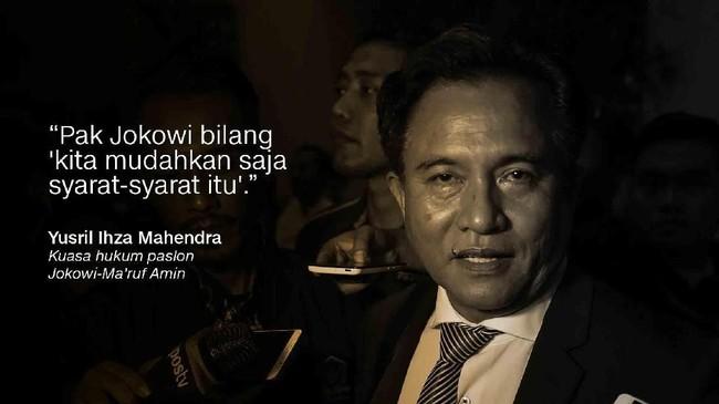 Yusril Ihza Mahendra, Kuasa hukum paslon Jokowi-Ma'ruf Amin.