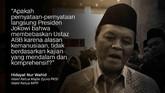 Hidayat Nur Wahid, Wakil Ketua Majlis Syura PKS/Wakil Ketua MPR.