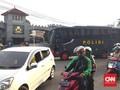 Jelang Ahok Bebas, Lalu Lintas di Depan Mako Brimob Padat