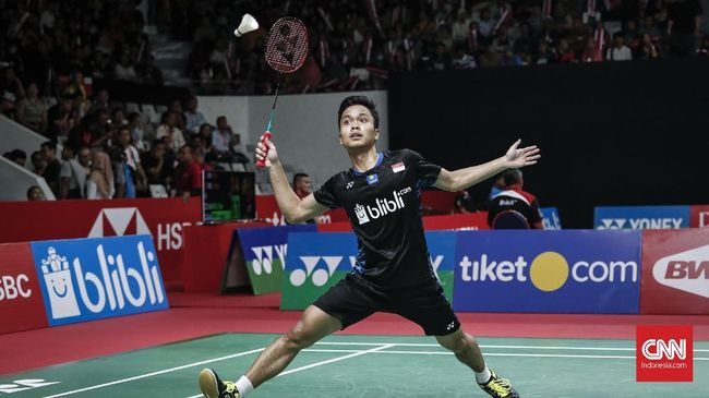 Anthony Ginting Gagal ke Semifinal Indonesia Masters 2019